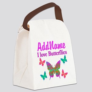 LOVE BUTTERFLIES Canvas Lunch Bag