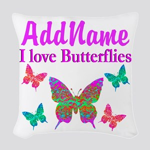 LOVE BUTTERFLIES Woven Throw Pillow