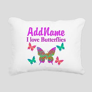 LOVE BUTTERFLIES Rectangular Canvas Pillow