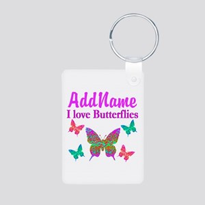 LOVE BUTTERFLIES Aluminum Photo Keychain