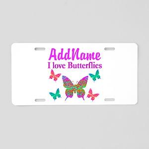 LOVE BUTTERFLIES Aluminum License Plate