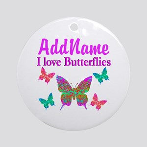 LOVE BUTTERFLIES Ornament (Round)