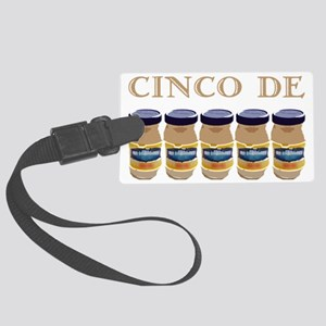 cinco de mayo on dark Large Luggage Tag