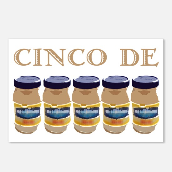 cinco de mayo on dark Postcards (Package of 8)