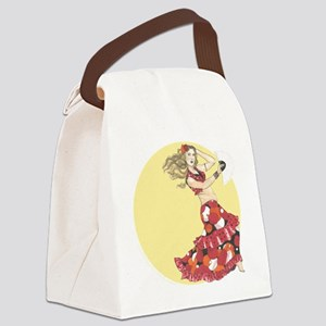 flamenco_fusion_sun Canvas Lunch Bag