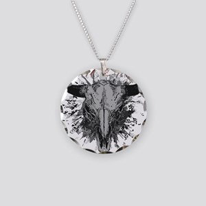 soul ink bull skull Necklace Circle Charm