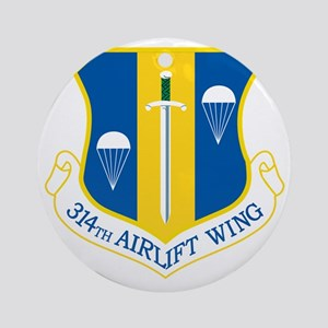 314th Airlift Wing Round Ornament