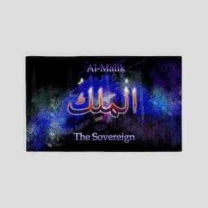 Al-Malik_black 3'x5' Area Rug