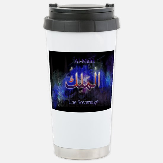 Al-Malik_black Stainless Steel Travel Mug