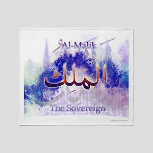 Al-Malik_smallwhite Throw Blanket
