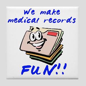 MedicalRecords Tile Coaster