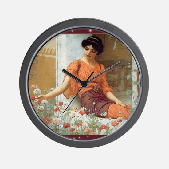 CALsummerflowers Wall Clock