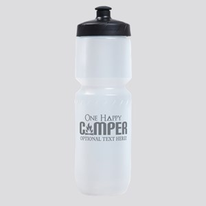 ONE HAPPY CAMPER FUNNY PERSONALIZED Sports Bottle