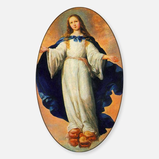 Francisco_de_Zurbaran_The Immaculat Sticker (Oval)
