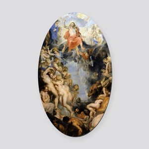 The Last Judgement Oval Car Magnet