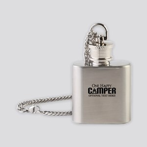ONE HAPPY CAMPER FUNNY PERSONALIZED Flask Necklace