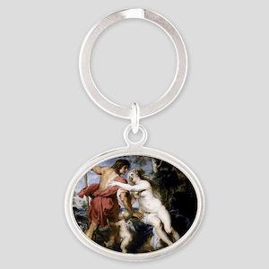 Venus and Adonis Oval Keychain