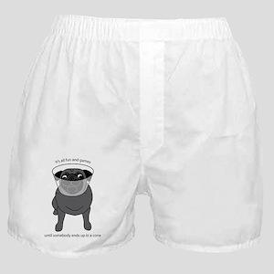 ConeheadPugBlack Boxer Shorts