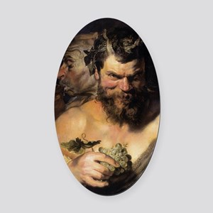 Two Satyrs Oval Car Magnet