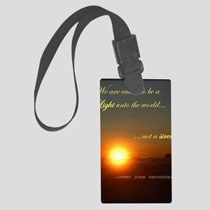 Light of the world Large Luggage Tag