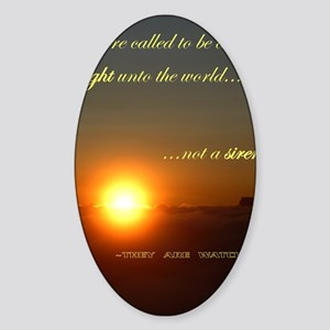 Light of the world Sticker (Oval)
