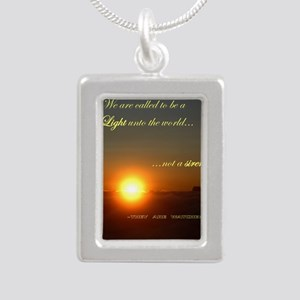 Light of the world Silver Portrait Necklace