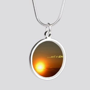 Light of the world Silver Round Necklace