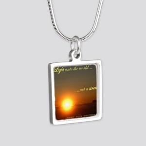 Light of the world Silver Square Necklace