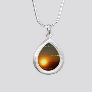 Light of the world Silver Teardrop Necklace