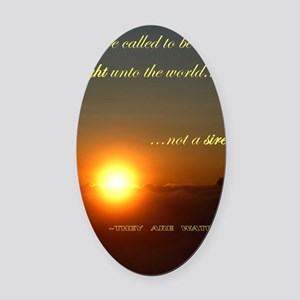 Light of the world Oval Car Magnet