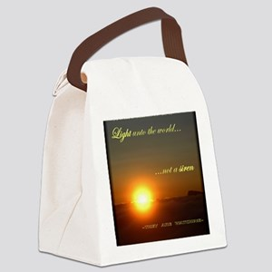 Light of the world Canvas Lunch Bag