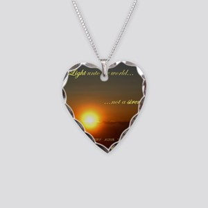 Light of the world Necklace Heart Charm