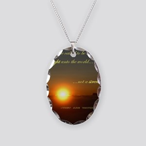 Light of the world Necklace Oval Charm