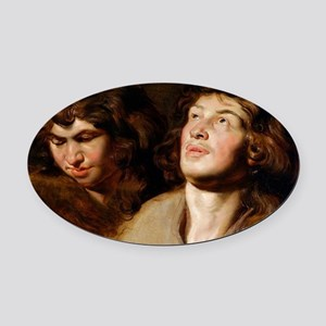 Study of Two Heads Oval Car Magnet