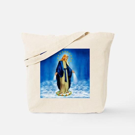 MilagrosaWCafePrSq Tote Bag
