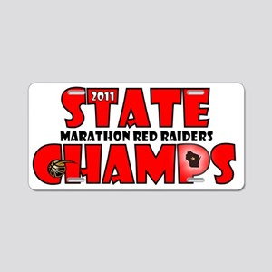 State Champs Aluminum License Plate