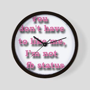 fbstatus Wall Clock