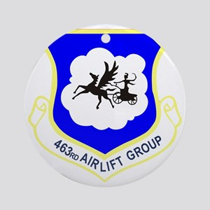 463rd Airlift Group Round Ornament