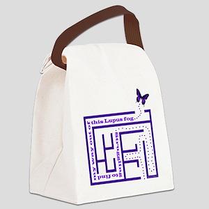 10lupus_fog1 Canvas Lunch Bag