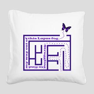 10lupus_fog1 Square Canvas Pillow