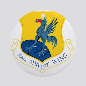 166th Airlift Wing Round Ornament