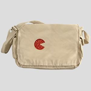 Pizza Logo_02.W on B. Trans Large 20 Messenger Bag