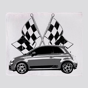Fiat 500 copy Throw Blanket