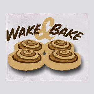 wake and bake Throw Blanket