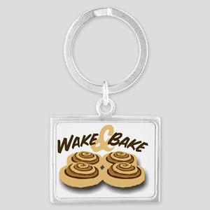 wake and bake Landscape Keychain
