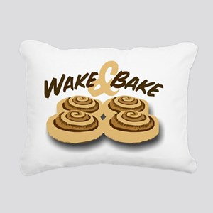 wake and bake Rectangular Canvas Pillow