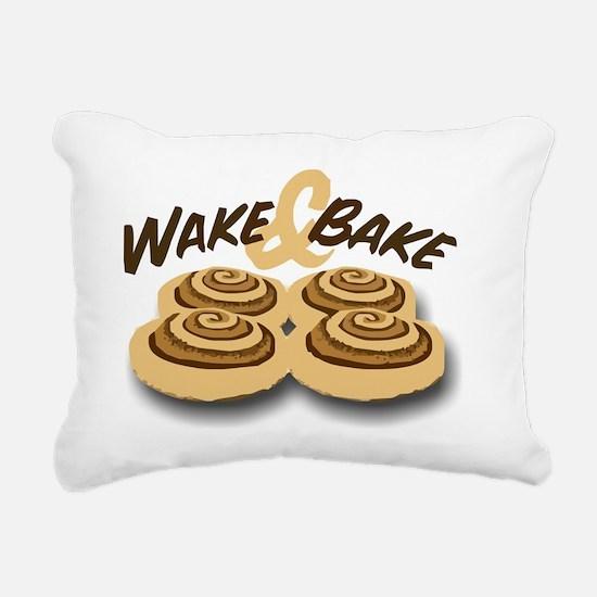 wake and bake Rectangular Canvas Pillow