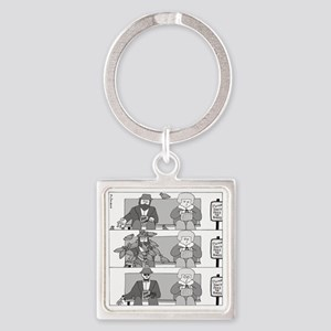 Dont Feed the Birds Square Keychain