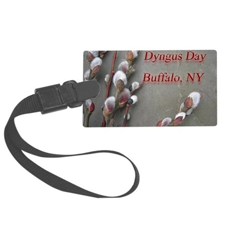 dyngus day buffalo combo_edited- Large Luggage Tag