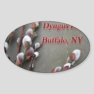 dyngus day buffalo combo_edited-2 Sticker (Oval)